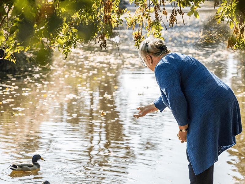 Fluss Ente Frau