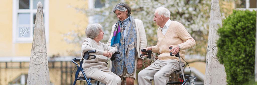 Pensionisten im Haus Malta Wien