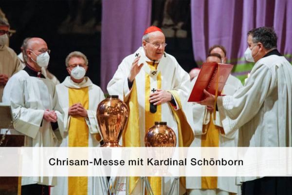 Titelbild Chrisammesse Kardinal Schoenborn 2021